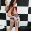 Super hot TS Jonelle Brooks posing outdoors